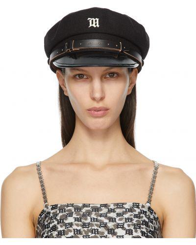 Czarna czapka wełniana z klamrą Misbhv