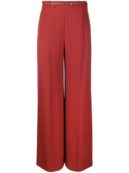Расклешенные красные брюки с карманами Chloé