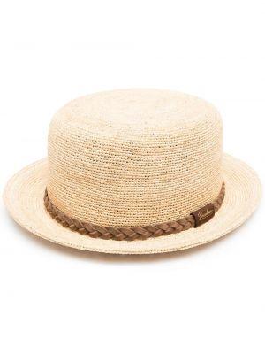 Соломенные шляпа с широкими полями Borsalino