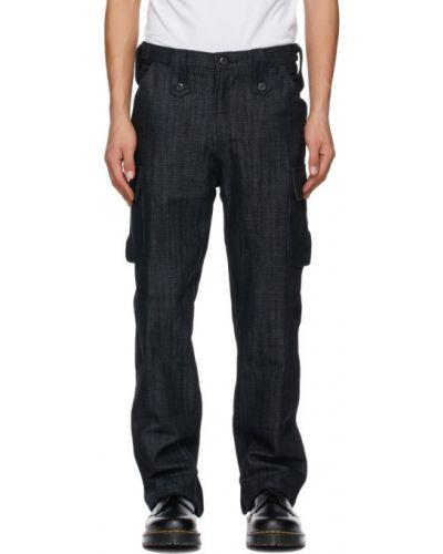 Прямые черные брюки карго с карманами Youths In Balaclava