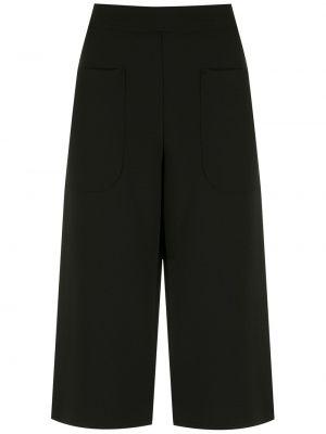 Свободные черные шорты с карманами Alcaçuz