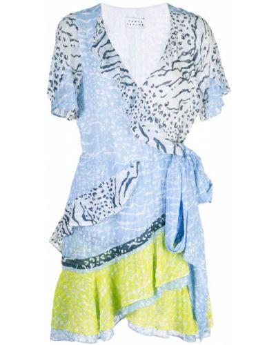 Платье мини с запахом с V-образным вырезом Tanya Taylor