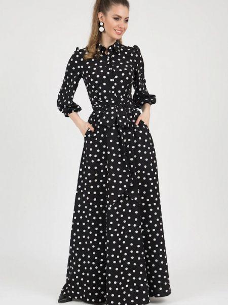 Платье платье-рубашка черное Marichuell