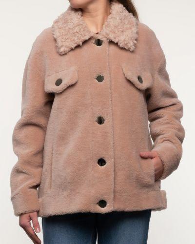 Бежевое шерстяное пальто с воротником Alcato