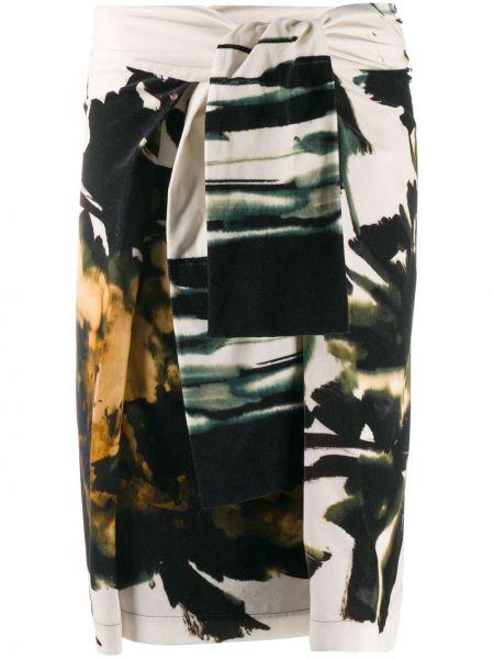 Ватная хлопковая черная с завышенной талией юбка Sara Roka