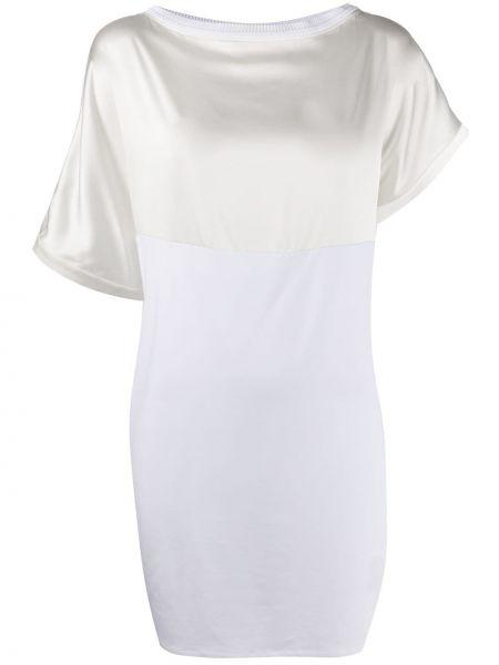 Платье мини со вставками в рубчик Malo