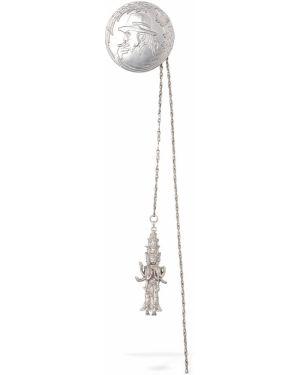 Broszka ze srebra srebrna Yohji Yamamoto