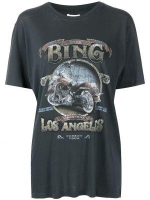 Хлопковая футболка - черная Anine Bing
