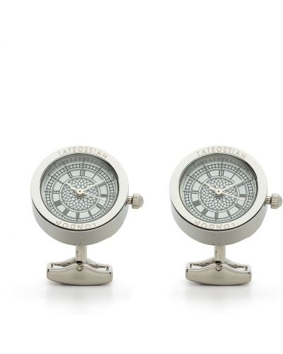 Biały zegarek srebrny Tateossian