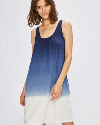 Рубашка синяя из вискозы Lauren Ralph Lauren