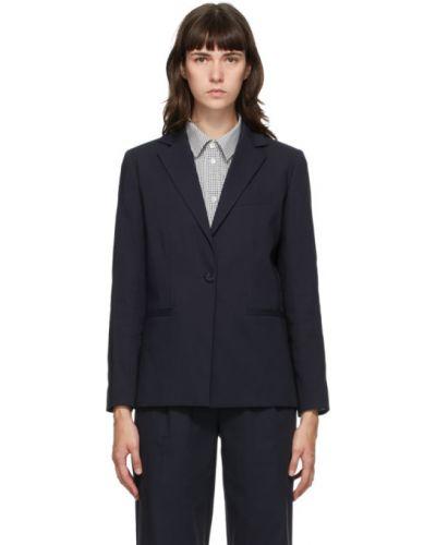 Сатиновый пиджак с воротником с карманами с лацканами A.p.c.