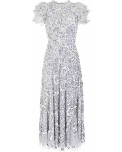 Платье макси короткое - серебряное Needle & Thread