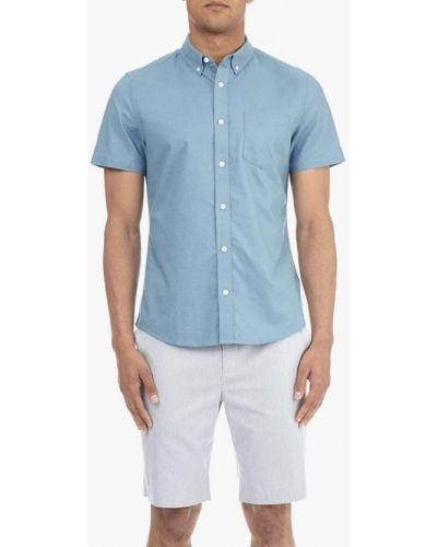 Голубая рубашка с короткими рукавами Burton Menswear London