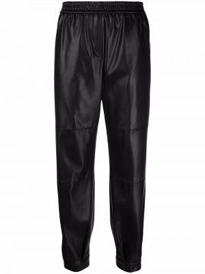 Кожаные брюки - черные Nude