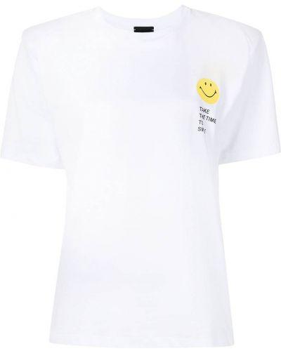 Biała koszulka z printem Joshua Sanders