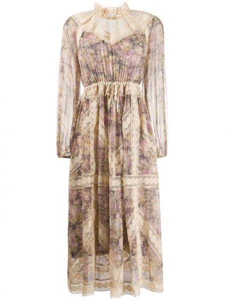 Платье макси с цветочным принтом шелковое Zimmermann