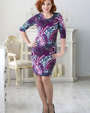 Платье из вискозы с вырезом Lautus