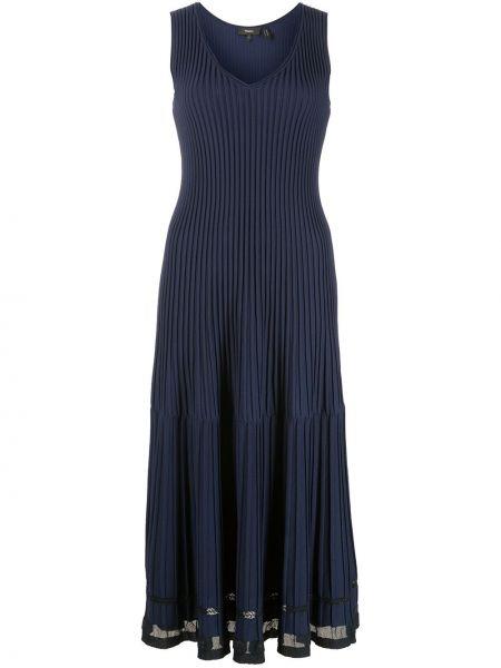 Синее платье из вискозы Theory