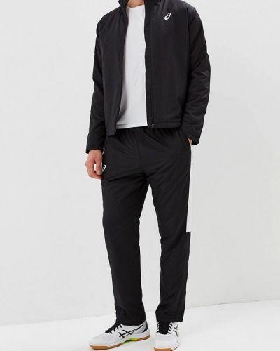 Спортивный костюм черный теплый Asics