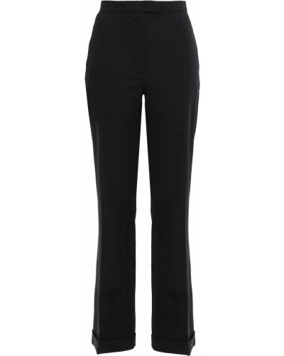 Czarne spodnie wełniane Osman