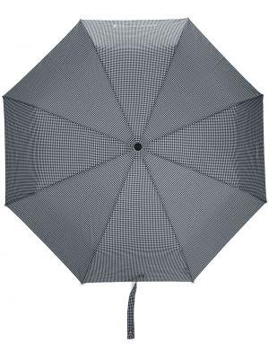 Czarny automatyczny parasol z haftem Mackintosh
