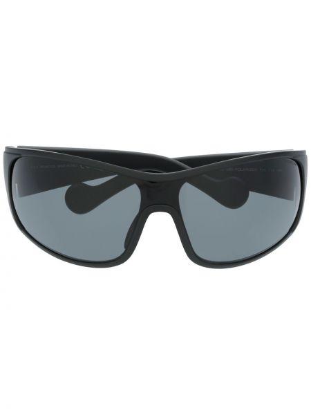 Прямые муслиновые черные солнцезащитные очки квадратные Moncler Eyewear