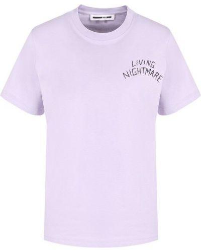 Фиолетовая футболка прямая Mcq