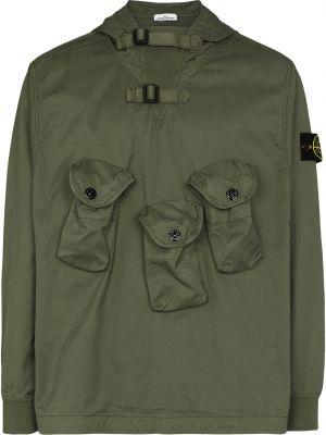 Куртка с капюшоном - зеленая Stone Island