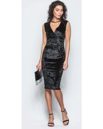 Велюровое платье - черное Modniy Oazis