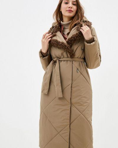 Коричневая утепленная куртка D`imma