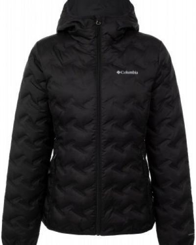 Пуховая теплая черная утепленная куртка с перьями Columbia