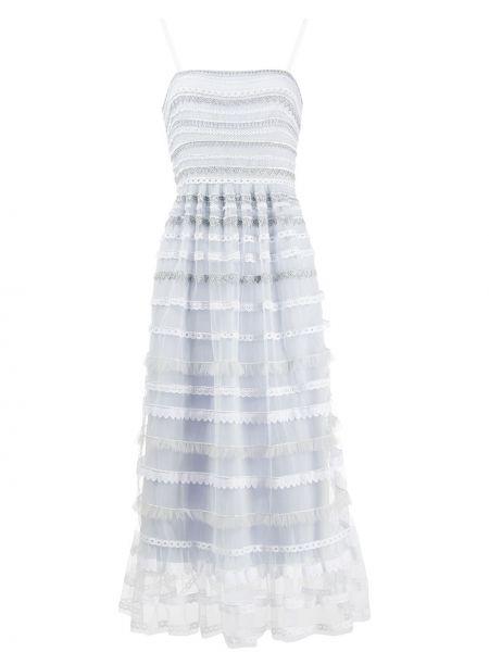 Платье в полоску на бретелях Temperley London