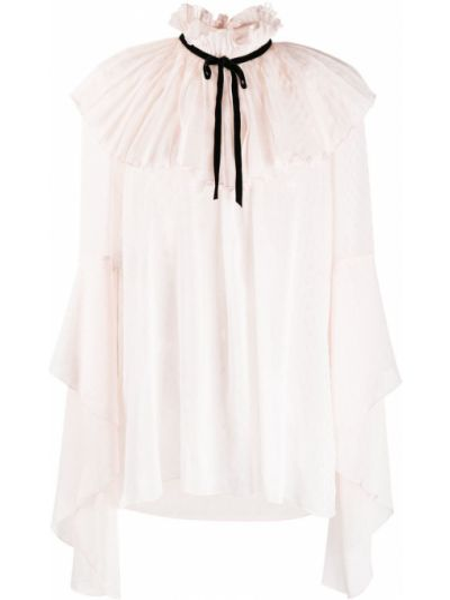 С рукавами блузка со вставками с вырезом Philosophy Di Lorenzo Serafini