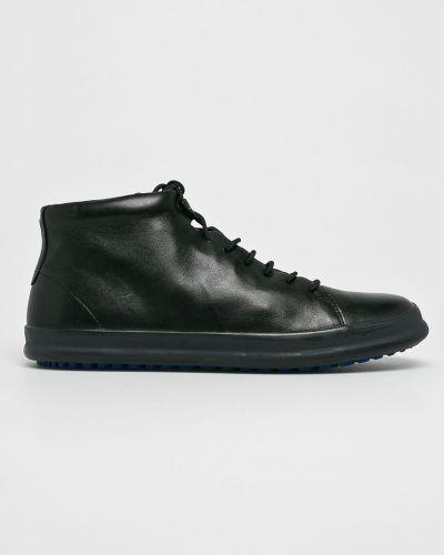 Кожаные ботинки высокие черные Camper