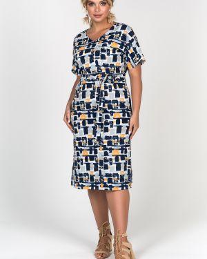 Платье мини с V-образным вырезом с поясом Valentina