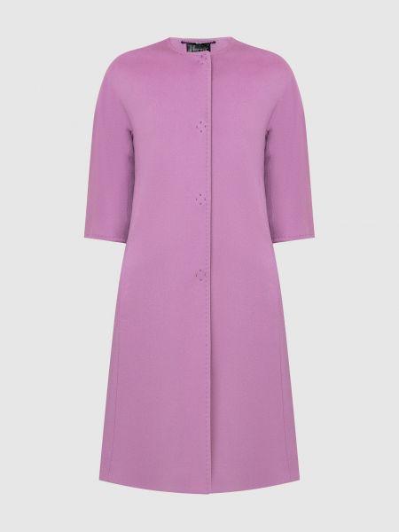 Фиолетовое шерстяное пальто Heresis