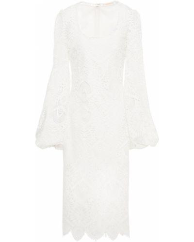 Гипюровое кружевное белое платье Sara Battaglia
