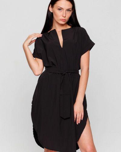 Платье осеннее черное Karree
