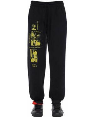 Czarne joggery z haftem bawełniane Taboo