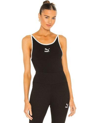 Klasyczny czarny body sportowe bawełniany Puma
