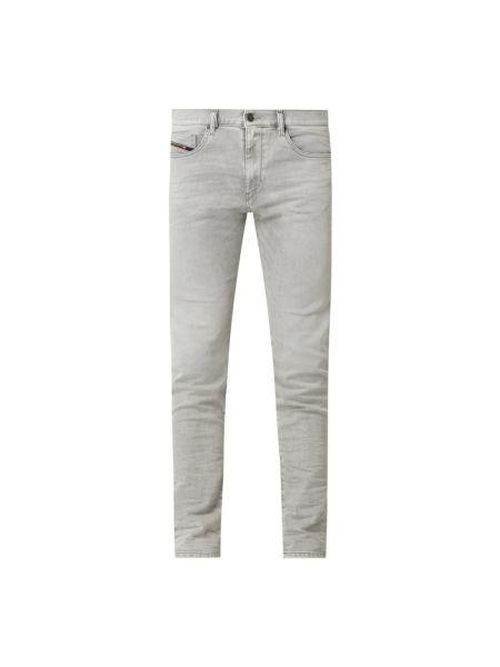 Bawełna bawełna jeansy z paskami z zamkiem błyskawicznym Diesel