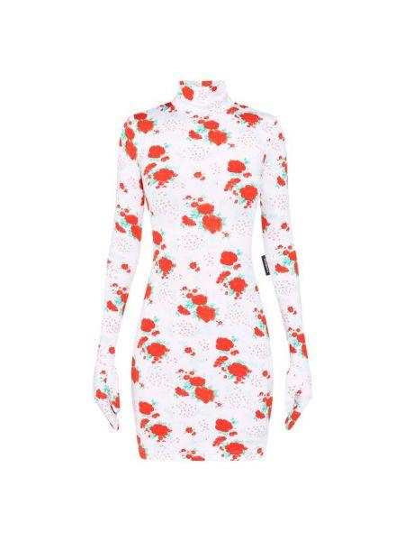 Платье с цветочным принтом с воротником Vetements