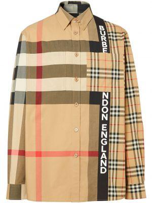 Koszula z kołnierzem z kieszeniami niejednolita całość z łatami Burberry