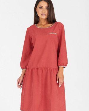 Повседневное платье коралловый красный Eliseeva Olesya