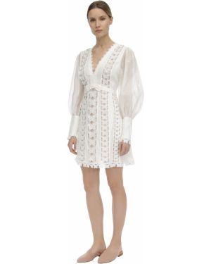 Платье мини макси из органзы Zimmermann