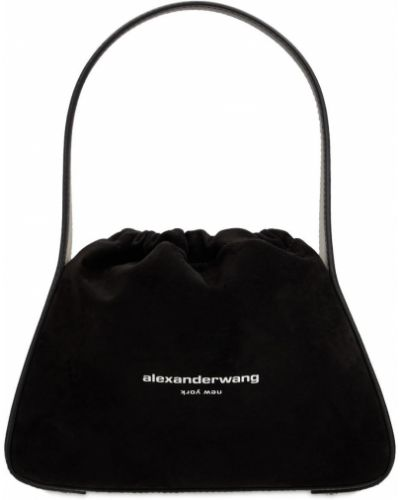 Черная кожаная сумка Alexander Wang