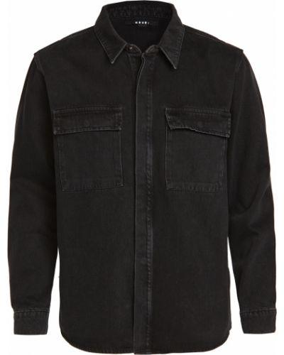 Хлопковая черная джинсовая рубашка с длинными рукавами Ksubi