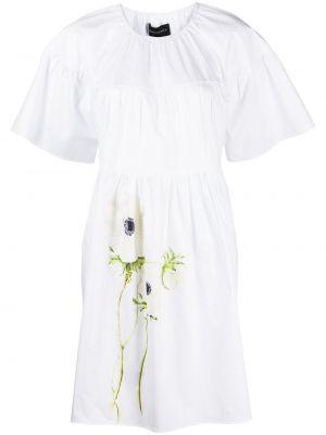 Платье мини в цветочный принт - белое Cynthia Rowley