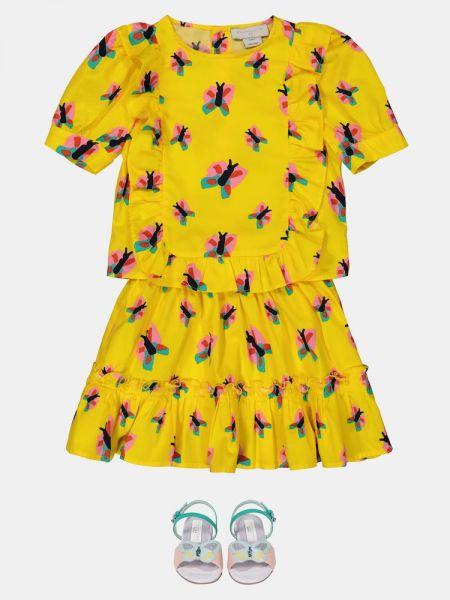 Bawełna bawełna żółty top Stella Mccartney Kids