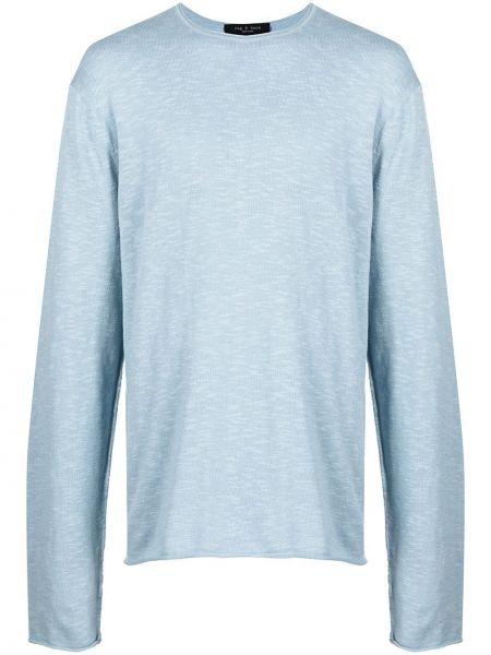 Niebieski t-shirt z długimi rękawami bawełniany Rag & Bone